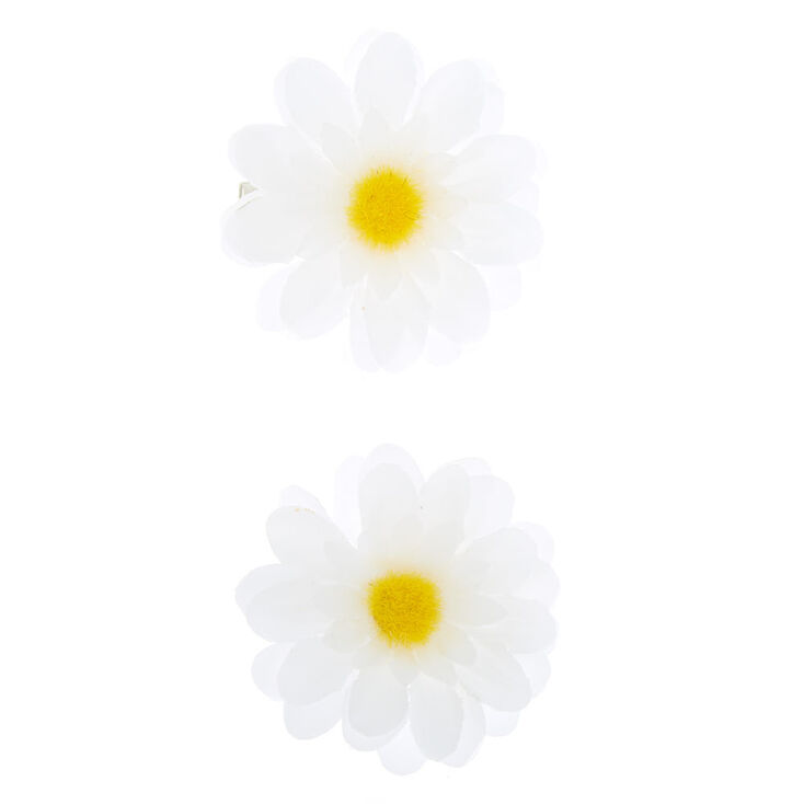 Create Easy Vintage Hairstyles Icing Daisy Flower Hair Clips - 2 Pack $4.99 AT vintagedancer.com