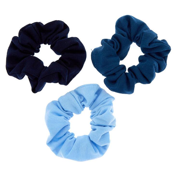 Small Ocean Breeze Hair Scrunchies - Blue, 3 Pack,