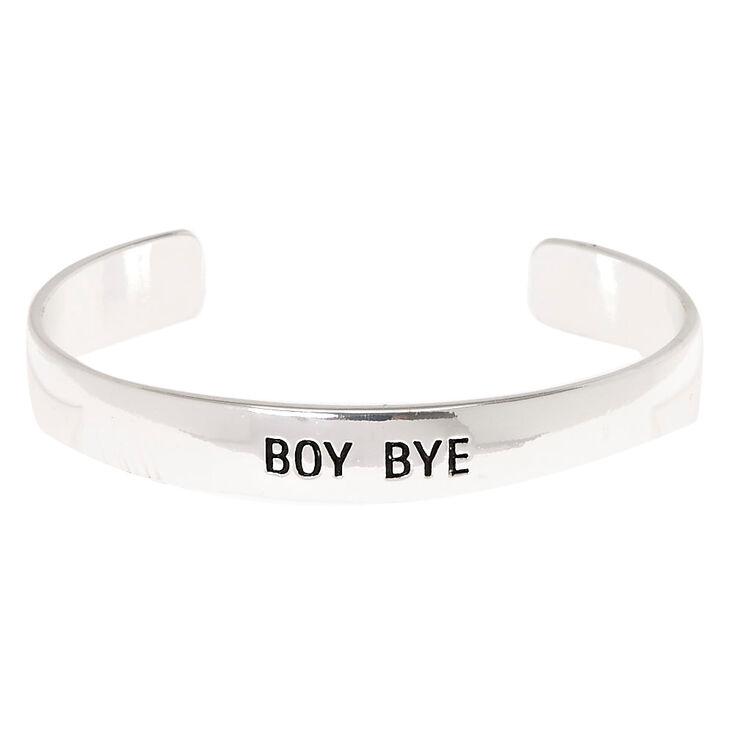 Silver-Tone BOY BYE Cuff Bracelet,