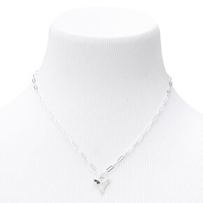 Shark's Tooth Pendant Necklace - Silver,