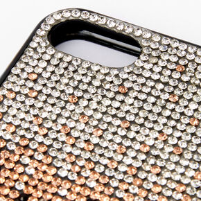Ombre Crystal Studded Protective Phone Case - Fits iPhone 6/7/8/SE,