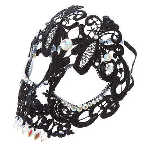 Skeleton Lace Mask - Black,