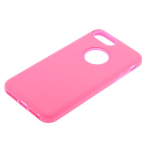 Soft-Touch Protective Phone Case - Fits iPhone 6/7/8 Plus,
