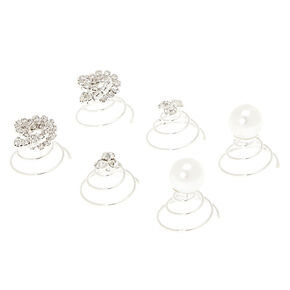 Crystal Knot and Pearl Hair Spinners,