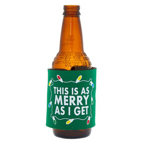 This Is As Merry As I Get Slap Koozie - Green,