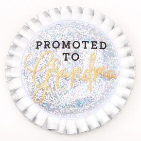 Promoted To Grandma Button - White,