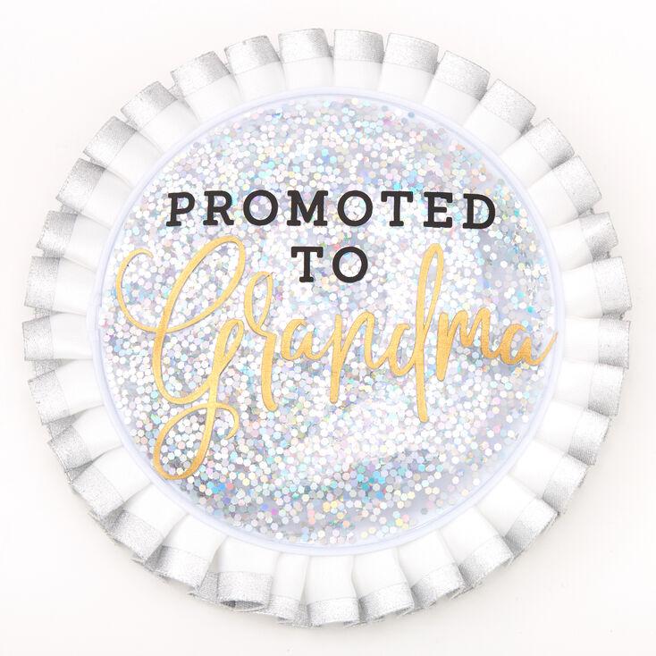 Promoted To Grandma Button - White,