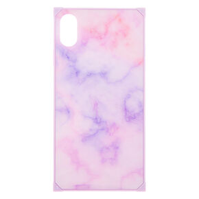 Lilac Marble Square Phone Case - Fits iPhone XS Max,