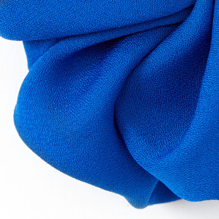 Giant Hair Scrunchie - Neon Blue,