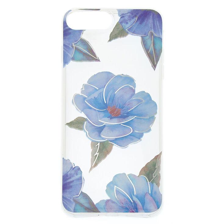 Blue Floral Phone Case - Fits iPhone 6/7/8 Plus,