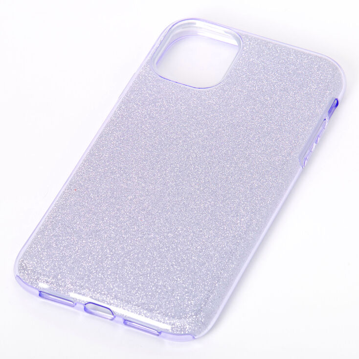 Purple Glitter Protective Phone Case - Fits iPhone 11,