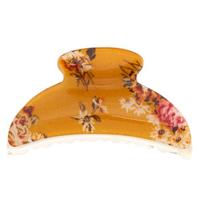 Floral Hair Claw - Mustard,