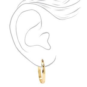 Gold 25MM Thick Hoop Earrings,