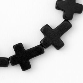Cross Stretch Bracelet - Black,