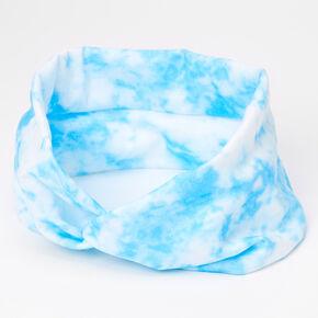 Tie Dye Twist Headwrap - Blue,