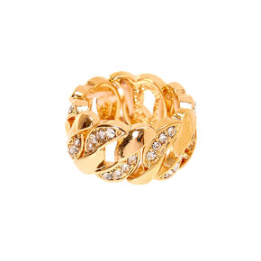 Gold Chain Stretch Ring,