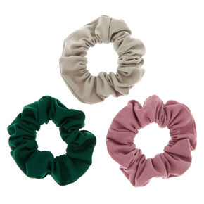 Small Jewel Toned Hair Scrunchies - 3 Pack,