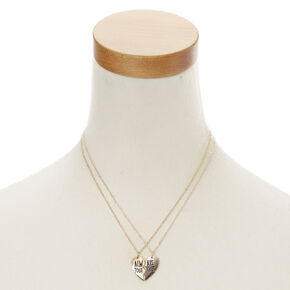 Gold-Tone ALWAYS TOGETHER Best Friend Necklaces,