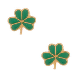 18kt Gold Plated Shamrock Stud Earrings,