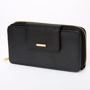 Wallet Crossbody Bag - Black,