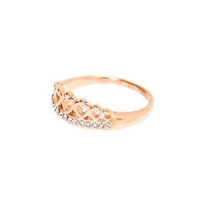 Rose Gold Tiara Ring,
