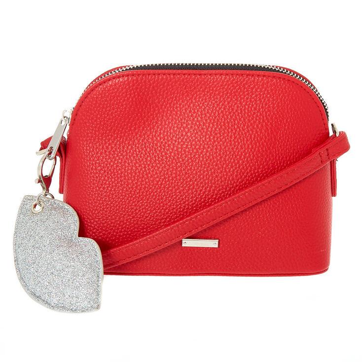 Pebble Crossbody Bag - Red,
