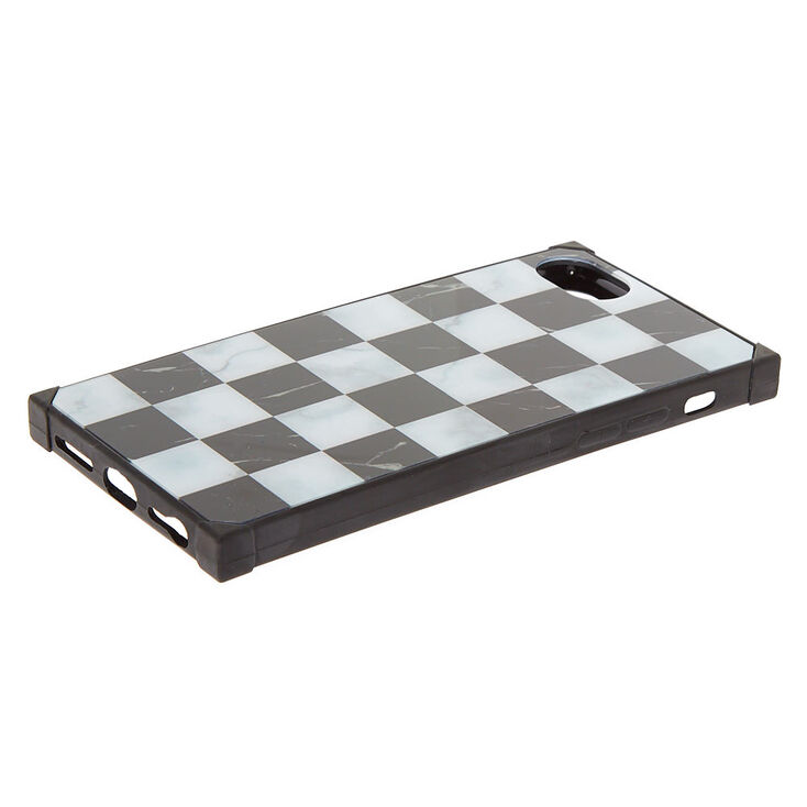 Checkered Marble Square Phone Case - Fits iPhone 6/7/8/SE,
