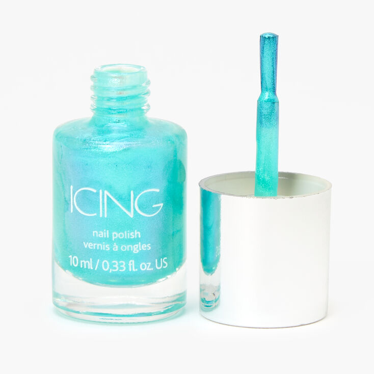 Shimmer Nail Polish - Ocean Blue,