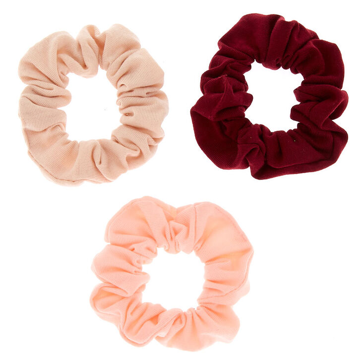 Small Berries & Cream Hair Scrunchies - 3 Pack,