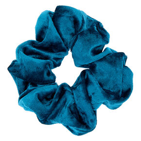 Velvet Hair Scrunchie - Teal,