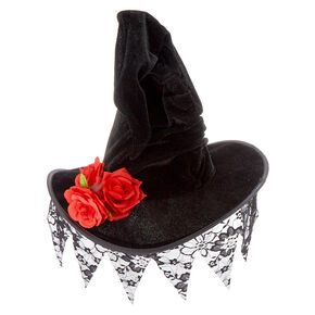 Lace Witch Hat - Black,