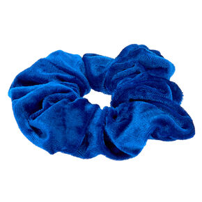 Large Velvet Scrunchie - Royal Blue,