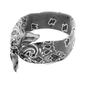 Gray Paisley Bandana Headwrap,