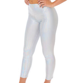 Holographic Leggings - Silver,