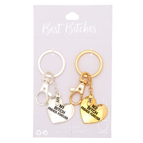Mixed Metal Best Bitches Keychain - 2 Pack,