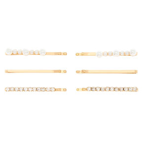 Gold Embellished Bobby Pins - 6 Pack,