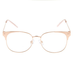Rose Gold Retro Clear Lens Frames,
