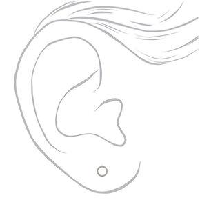 Silver Embellished Circle Stud Earrings,
