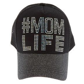 #Mom Life Trucker Hat - Black,