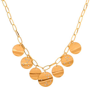 Gold Constellation Disc Statement Necklace,