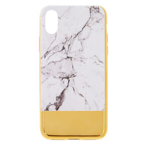 Metallic Gold Bar Marble Phone Case - Fits iPhone X/XS,