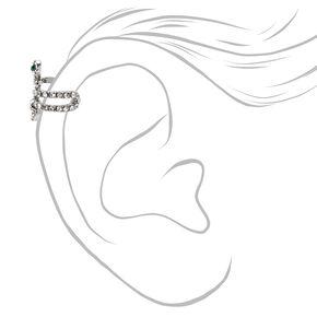 Silver Embellished Snake Ear Cuff,