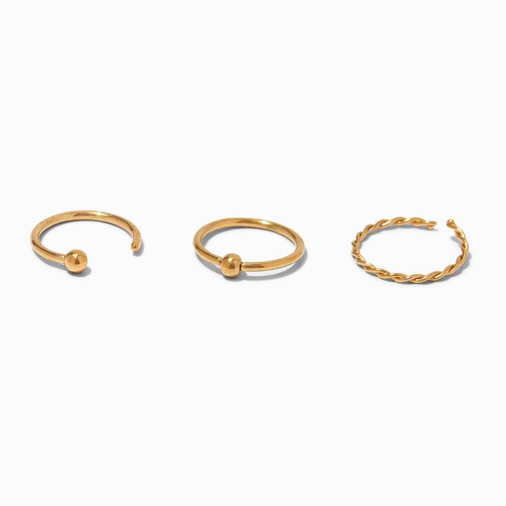 Gold Button Chain Hoop  Drop Earrings,