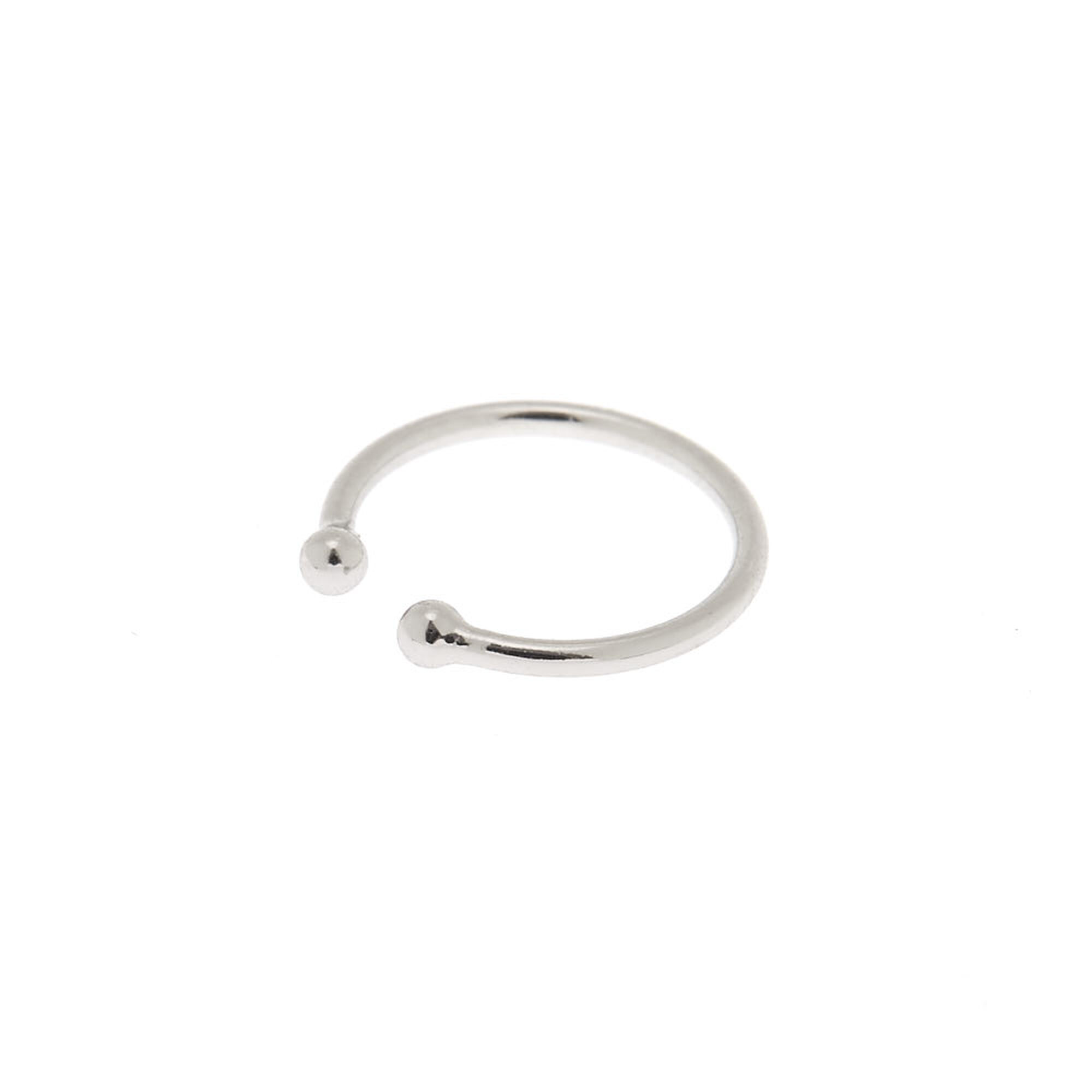 Silver Horseshoe Faux Nose Ring Icing Us