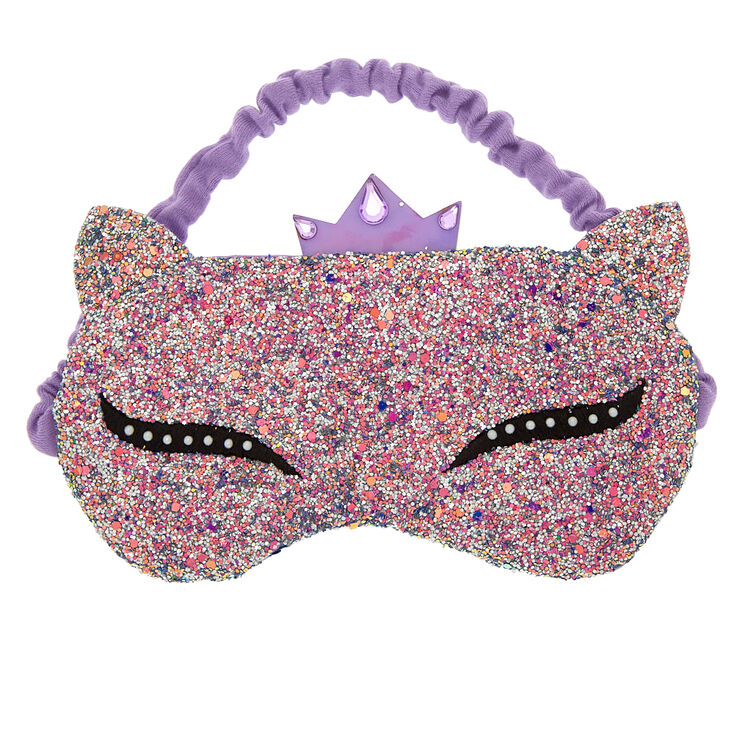 Glitter Lashes Sleeping Mask - Purple,