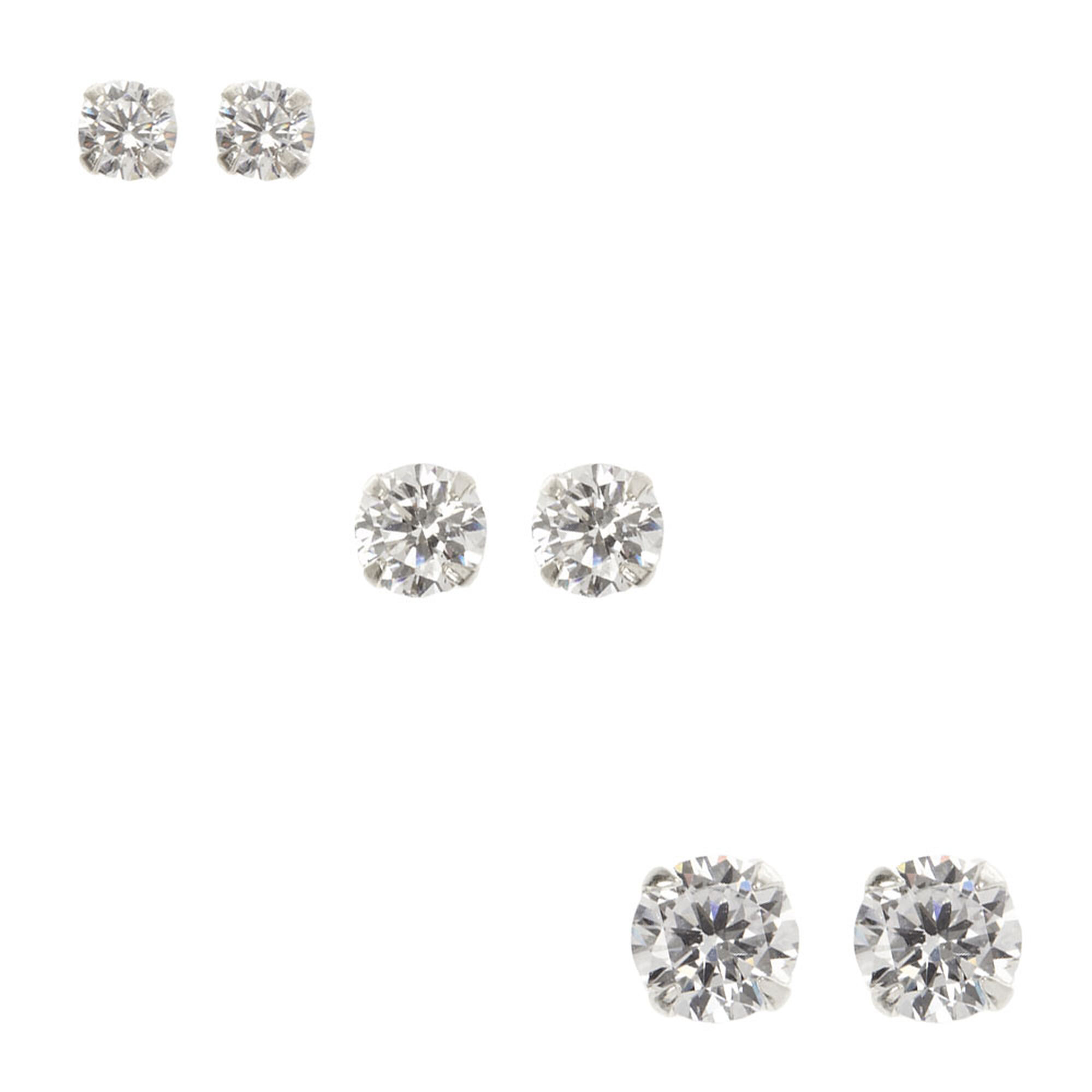 silver women nadri stud in s metallic zirconia cubic jewelry lyst earrings