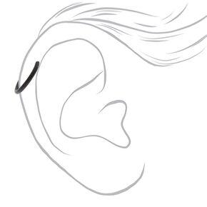 Matte Black Faux Cartilage Earrings,