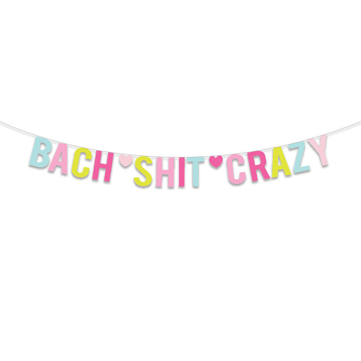 Bach Shit Crazy Party Banner - Rainbow,
