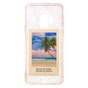 Pink Glitter Instax Mini Pocket Phone Case - Fits Samsung Galaxy S9,