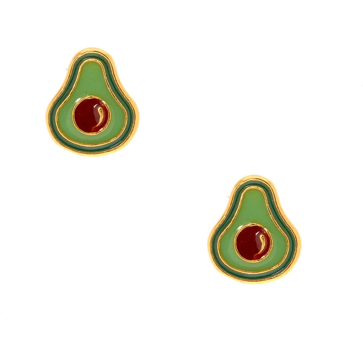 18kt Gold Plated Avocado Stud Earrings,